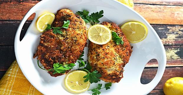 5 Ingredient Breaded Lemon Chicken