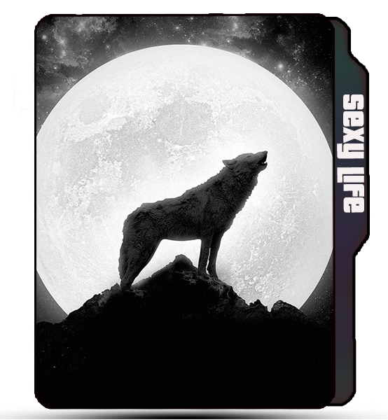 Wolf icon, animal icons, Moon light, wolf roar, wolf in moon light folder icon.