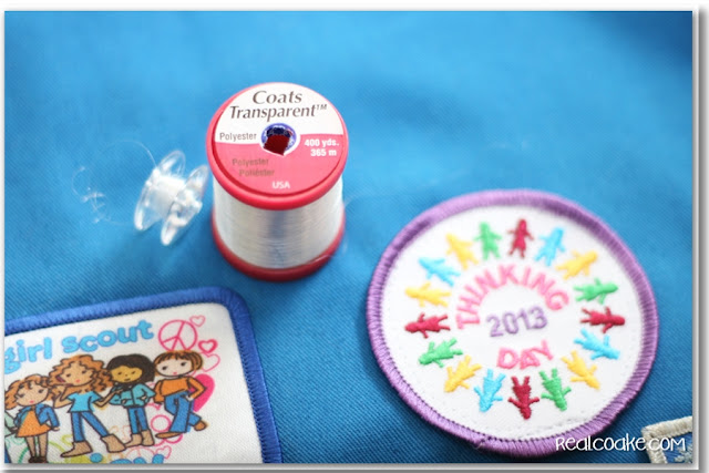 How to Sew on a Patch with a machine for Scout Patches. #Sewing #Patches #GirlScouts #BoyScouts