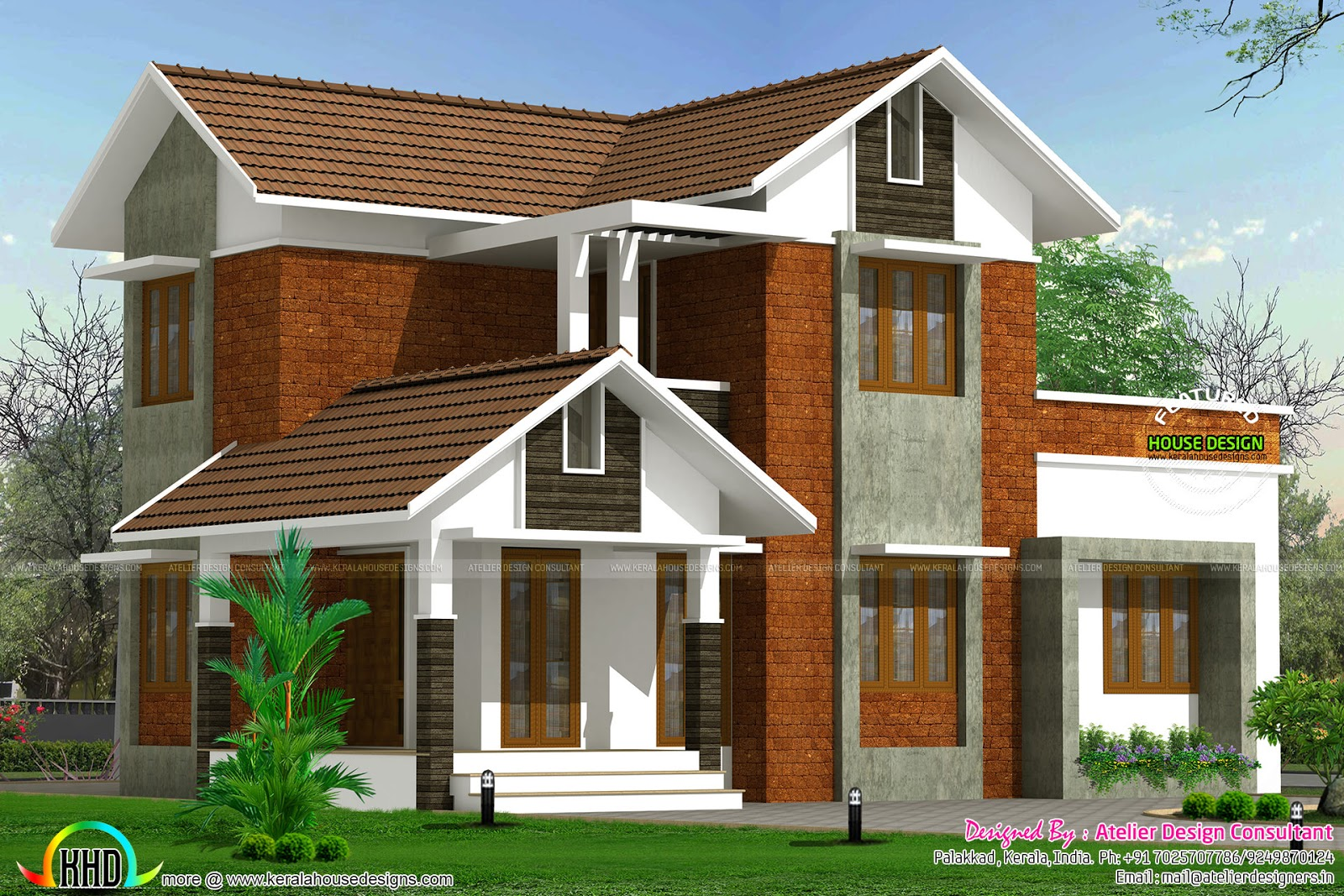 1500 sq ft kerala home design kerala home design and for Home designs 1500 sq ft
