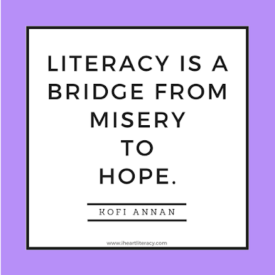 Literacy is a bridge from misery to hope. - Kofi Annnan
