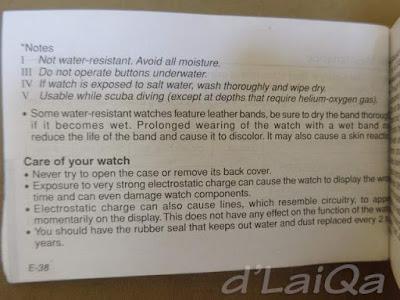 panduan pengguna arloji merk Casio (2)