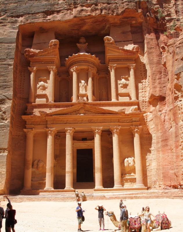 The rock beauty of Petra, Jordan