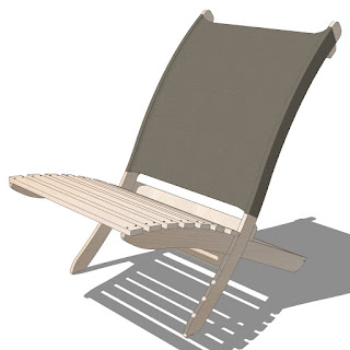Sketchup - Folding Chair-001