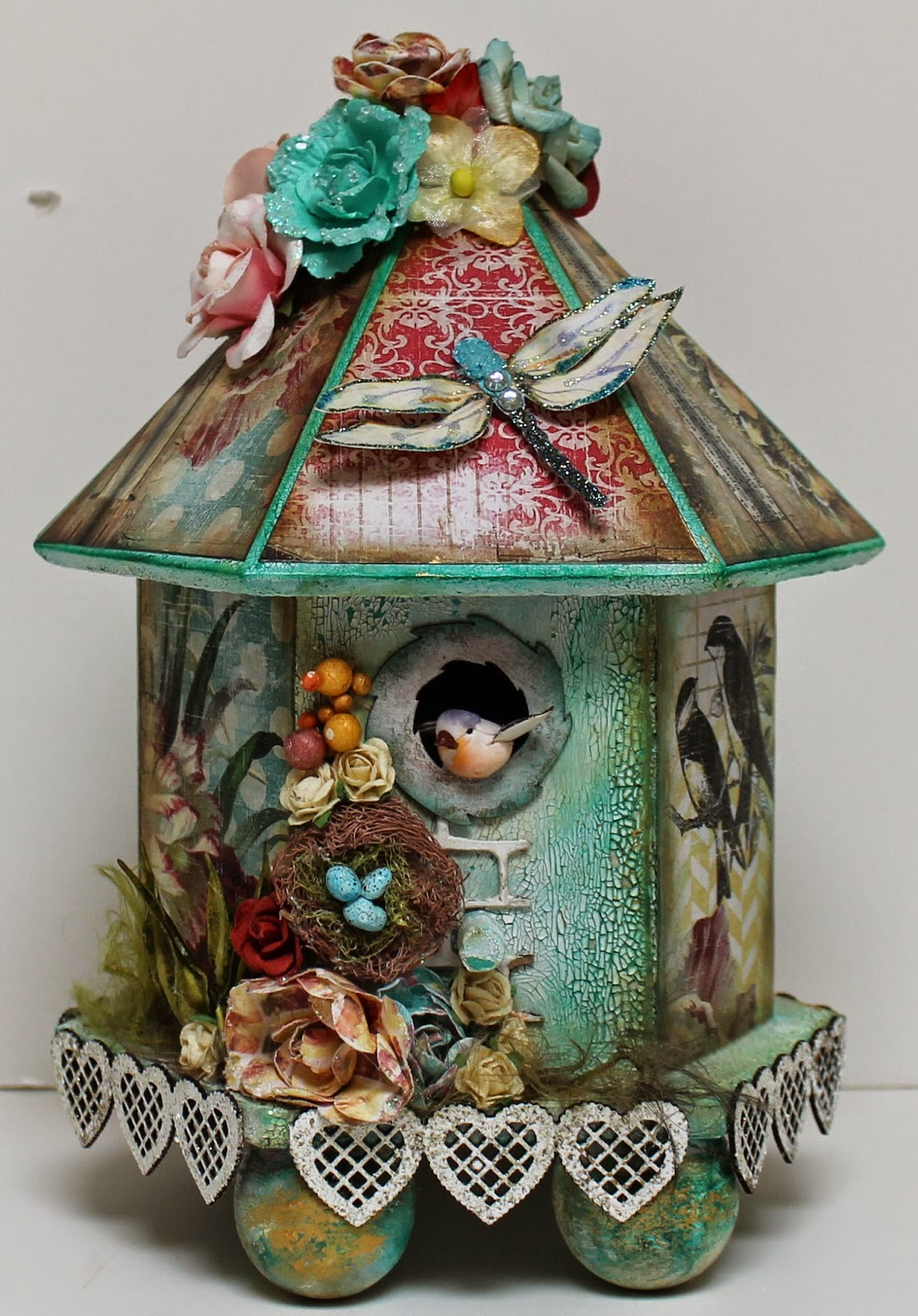 Something is. vintage bird house paintings Earlier thought