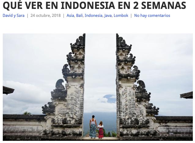 Chusayinka Travelblog Qué Ver En Indonesia En 2 Semanas