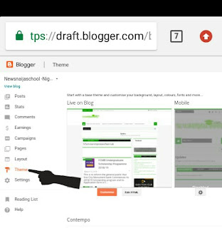 How to easily edit blogger template HTML with Android phone