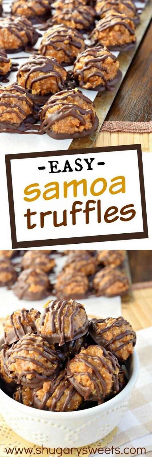 Easy Samoa Truffles