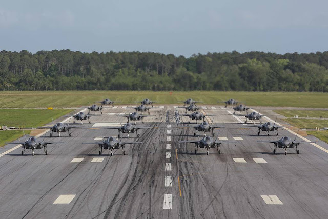 USMC F-35B elephant walk Beaufort