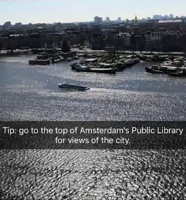 Amsterdam Inside Tip: Free views of Amsterdam at the top of Amsterdam Public Library