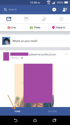 Facebook Inroduce a Bottom Navigation Bar in English 1