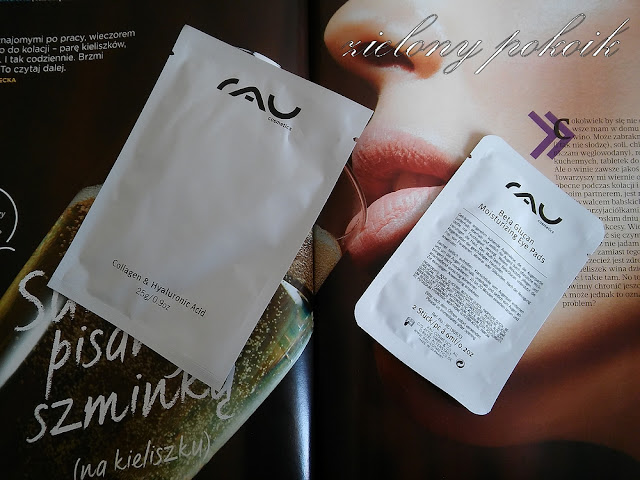 Kosmetycznie: SPA z RAU Cosmetics - Maska w płacie oraz płatki pod oczy - pierwsze wrażenie