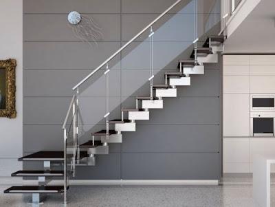 Desain Tangga Rumah Modern Bentuk-L