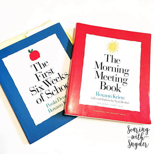 "Responsive Classroom Books ""The First Six Weeks of School"" and ""The Morning Meeting Book"""