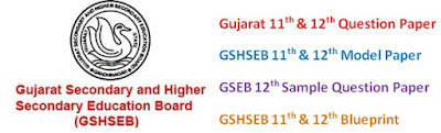 GSEB 11th & 12th Model Question Paper 2017 Blueprint