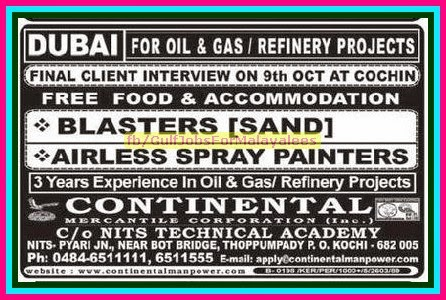 Dubai Oil & gas Refinery Project Jobs - Free Food & Accommodation