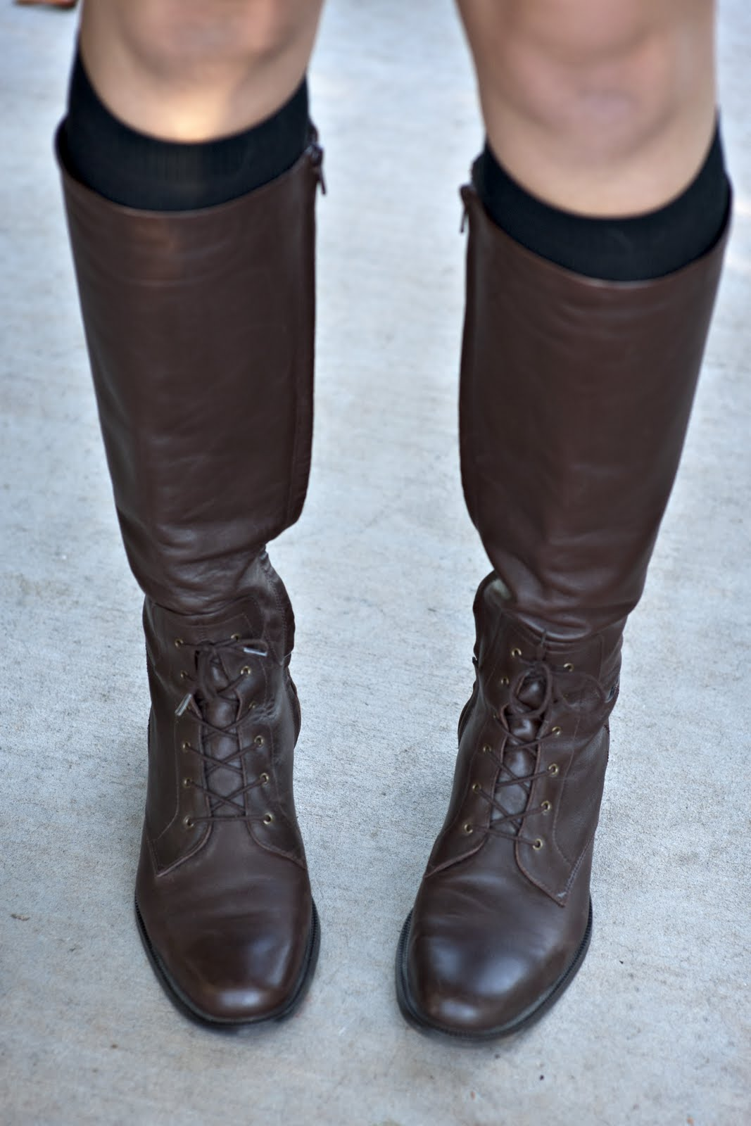 Knee Length Boots, Brown Boots