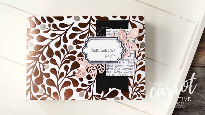 Labels to Love, Customer Rewards Program, Video Tutorial, Gift Box, Stampin' Up!, The Crafty Carrot Collective, Year of Cheer Specialty Designer Series Paper, Flourishing Thinlets, Papercraft by Jennifer Frost