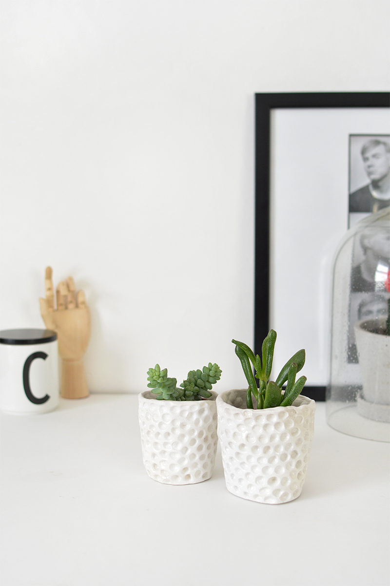 how to make clay planters