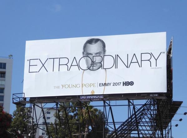 Young Pope Extraordinary 2017 Emmy FYC billboard