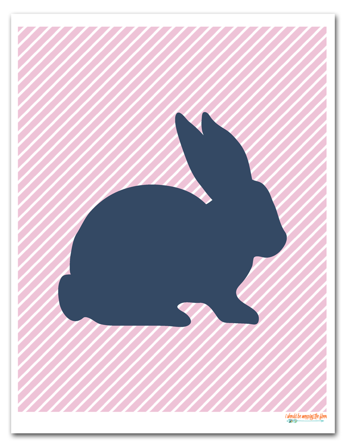 printable easter silhouette craft i should be mopping the floor free printable easter bunny 5288