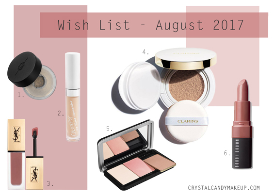 Wish List August 2017 Beauty Makeup