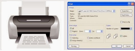 Features of MS Excel  - easy printing