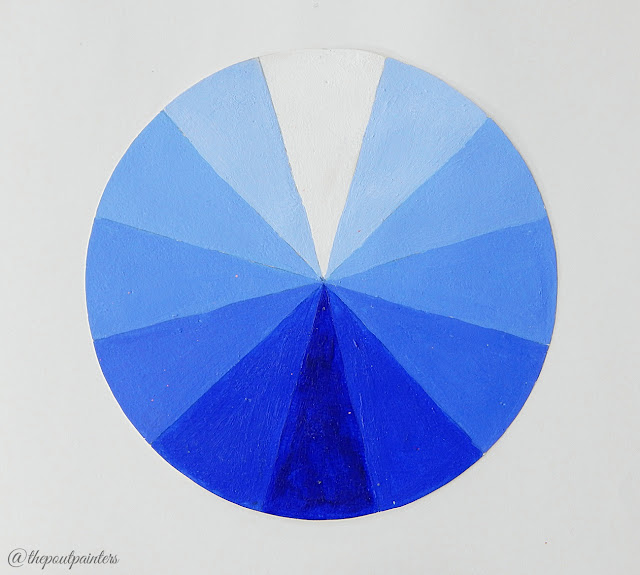 Value Scale Ultramarine Blue Betty Edwards Colour Theory Colours