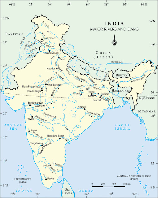 Dams and rivers in india