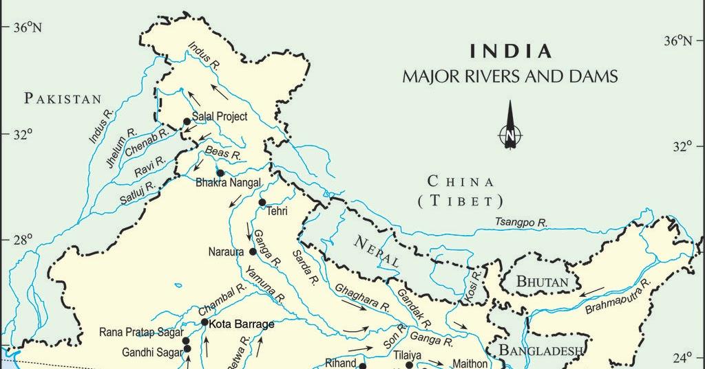 Main Rivers and Dams of Karnataka