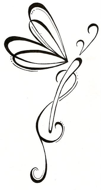Dragonfly Infinity Family Symbol Tattoos