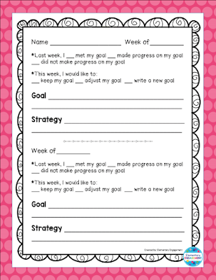 Use this free form to help your students' track their goals.