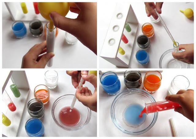 смешиваем краски