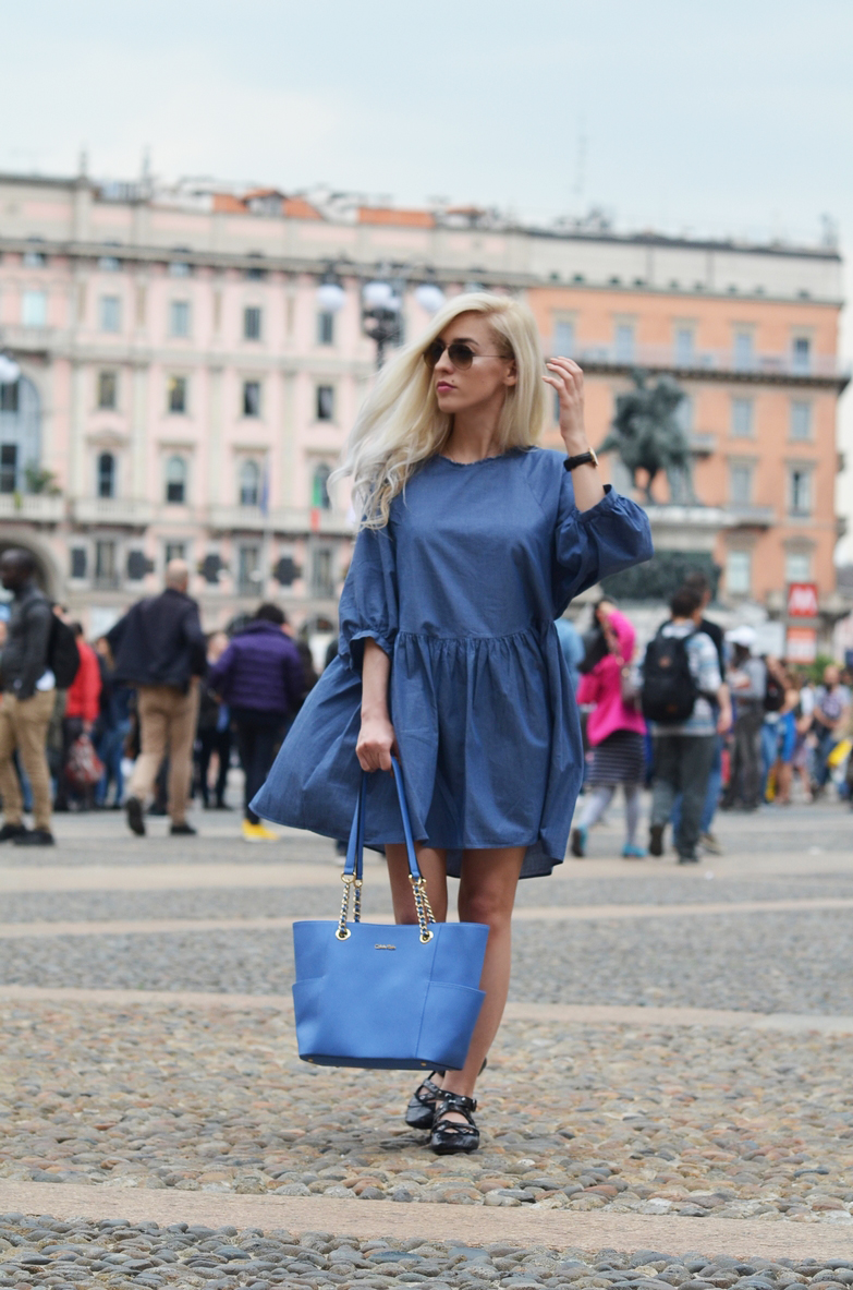 MILANO LOOK: DENIM DRESS