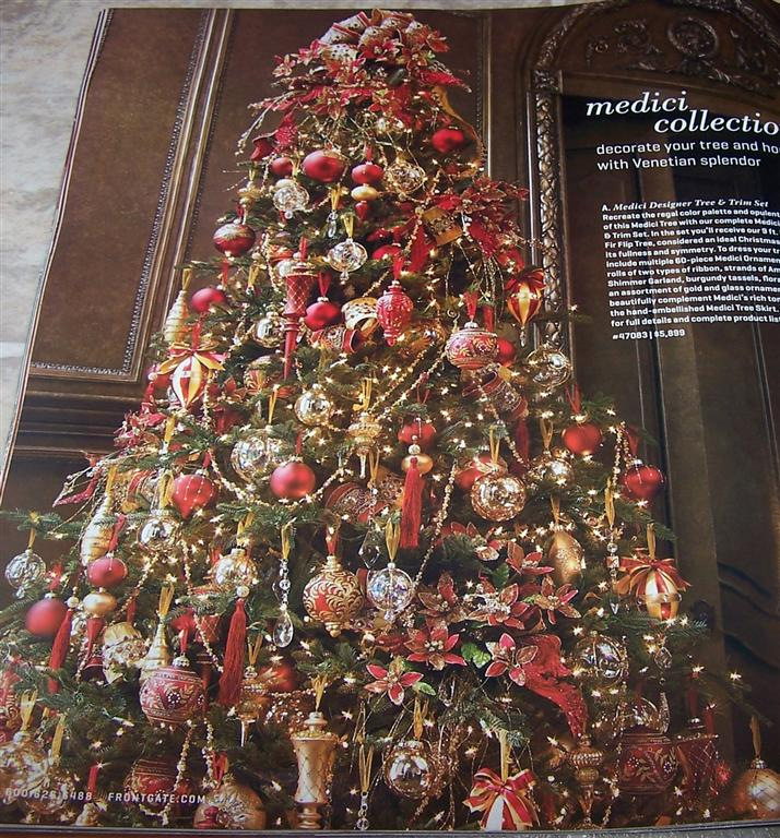 Red And Gold Christmas Trees: Perennial Passion: Christmas Tree Inspiration