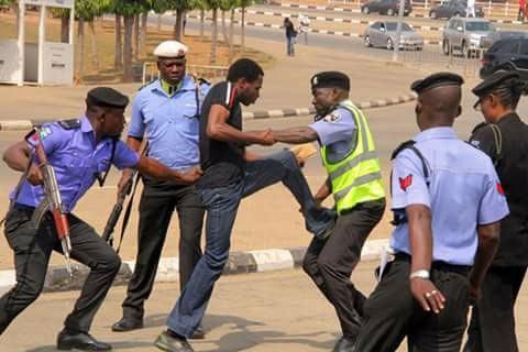Between policemen and a motorist in Onitsha today