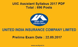 United India Insurance Assistant Syllabus 2017
