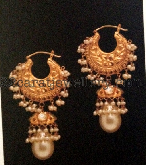 Gemstones And Gold Earrings Sets Jewellery Designs