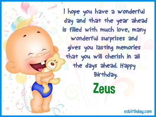 Zeus Happy birthday