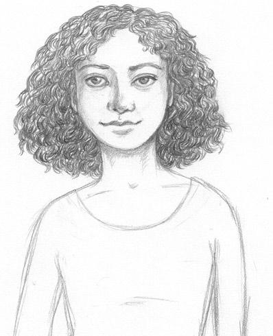 Short Curly Hair Drawing : short, curly, drawing, ArtGhost:, Drawing, Curly