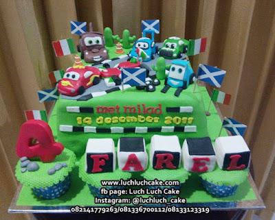 Kue Tart Dan Cupcake Ulang Tahun Cars