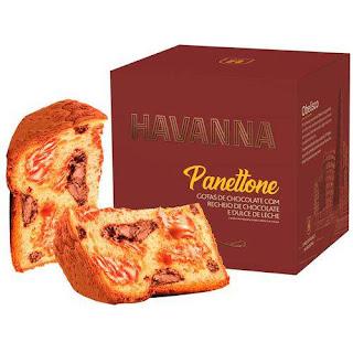 Panettone Havanna Duplo Recheio Chocolate e Doce de leite