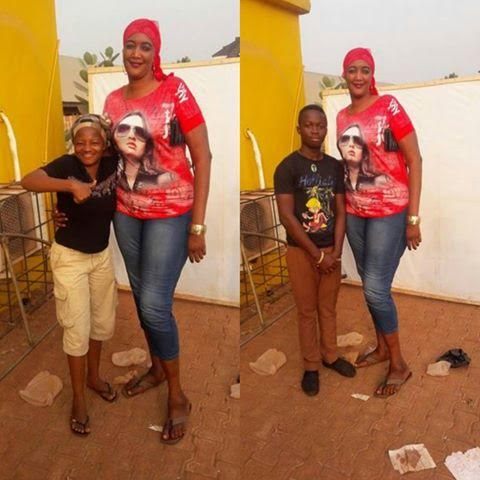 Photos: This Woman Is Reportedly The Tallest Woman In Kogi State