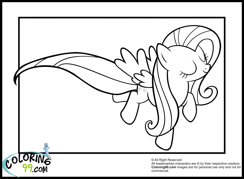 Fluttershy Coloring Page - Democraciaejustica