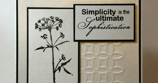 Simplicity - Beautanicals - Black & White - for Bee Crafty Stamps