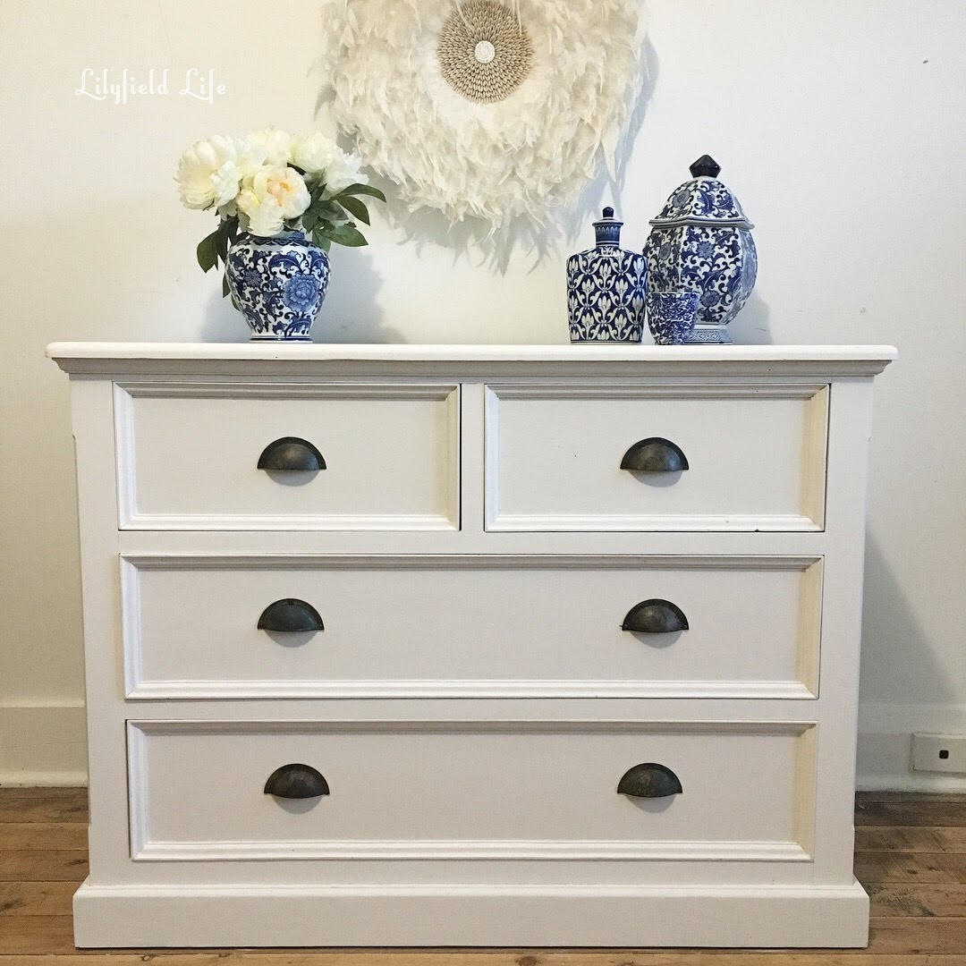 White Chest Of Drawers Hand Painted Lilyfield Life