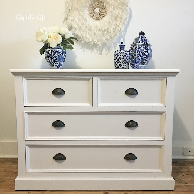 white chest of drawers - hand painted Lilyfield Life