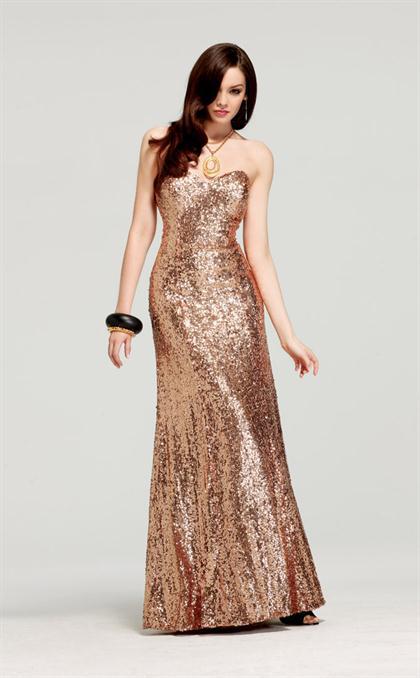 65d3863c7 Aqui te quiero mostrar algunas fotos de Vestidos Largos de Fiesta de Color  Dorado