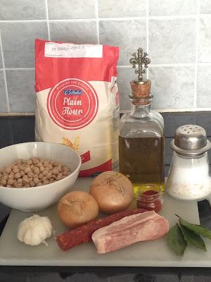 Garbanzos con chorizo, ingredientes