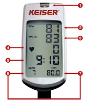 M-Series digital monitor on Keiser M3iX Indoor Cycle, Bluetooth, Polar heart-rate compatible